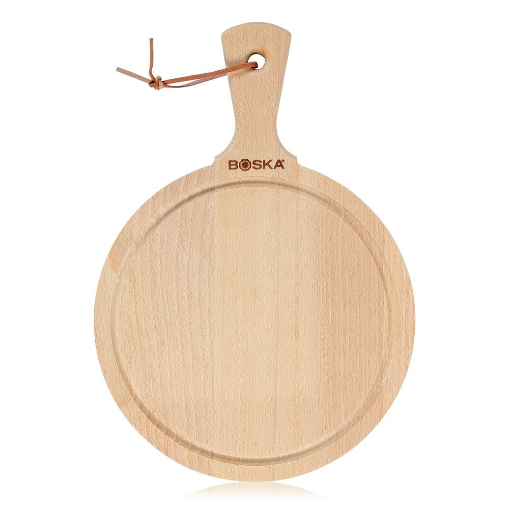 Servírovací prkénko z naolejovaného bukového dřeva Boska Serving Board Round Amigo, 33,5 x 23,5 cm