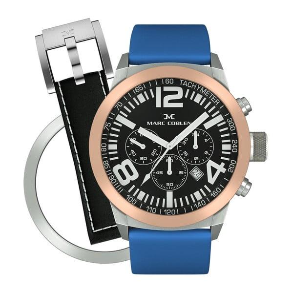 Dámské hodinky Marc Coblen s páskem a kroužkem navíc P116