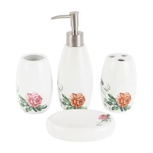 Porcelánová sada do koupelny Roses, 4 ks