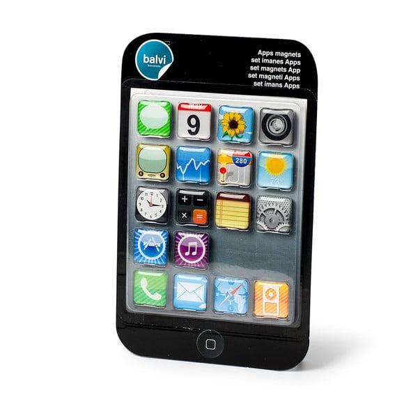 Sada 18 ks magnetů Balvi Apps