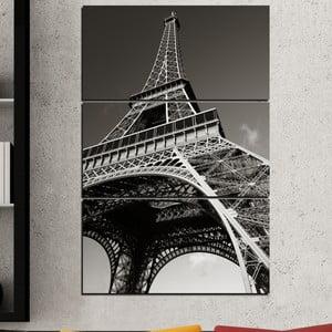 3dílný obraz Eiffelovka