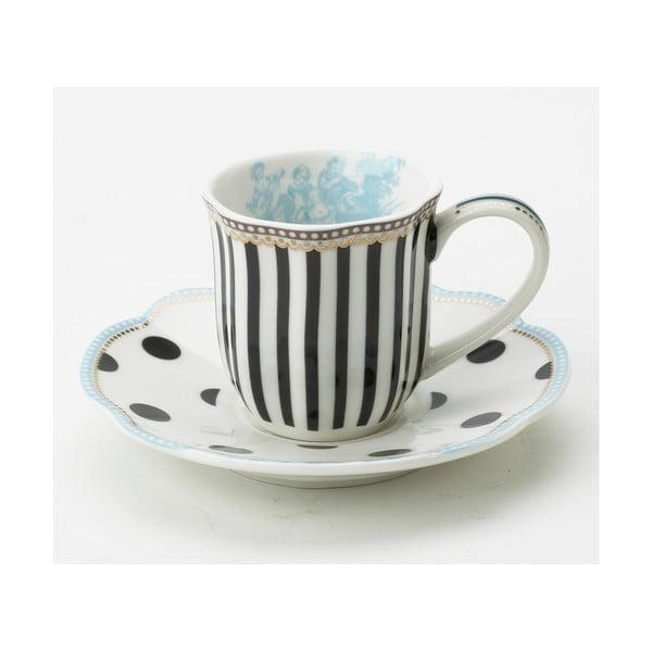 Porcelánový šálek na espresso s podšálkem Toile od Lisbeth Dahl, 2 ks