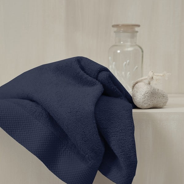 Sada 3 tmavě modrých ručníků Seahorse Pure,60x110cm