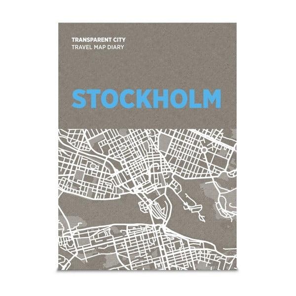 Jurnal pentru notițe pe hartă Palomar Transparent City Stockholm