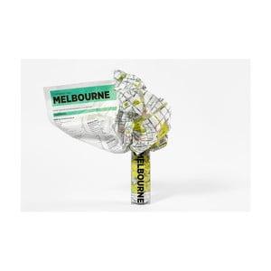 Zmačkaná cestovní mapa Palomar Melbourne