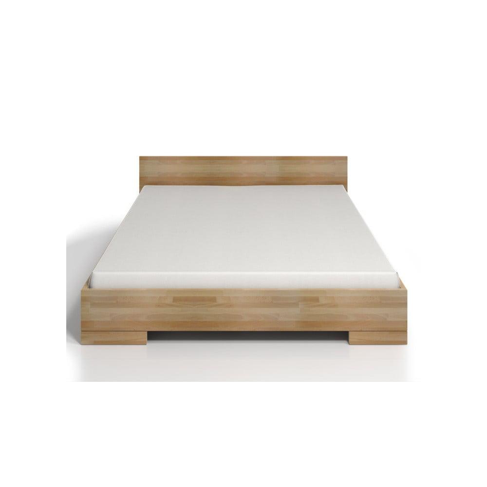 Dvoulůžková postel z bukového dřeva s úložným prostorem SKANDICA Spectrum Maxi, 140 x 200 cm