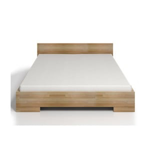 Dvoulůžková postel z bukového dřeva s úložným prostorem SKANDICA Spectrum Maxi, 200x200cm