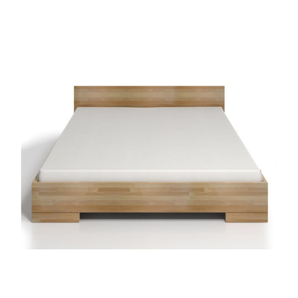 Pat dublu din lemn de fag SKANDICA Spectrum Maxi, 160 x 200 cm