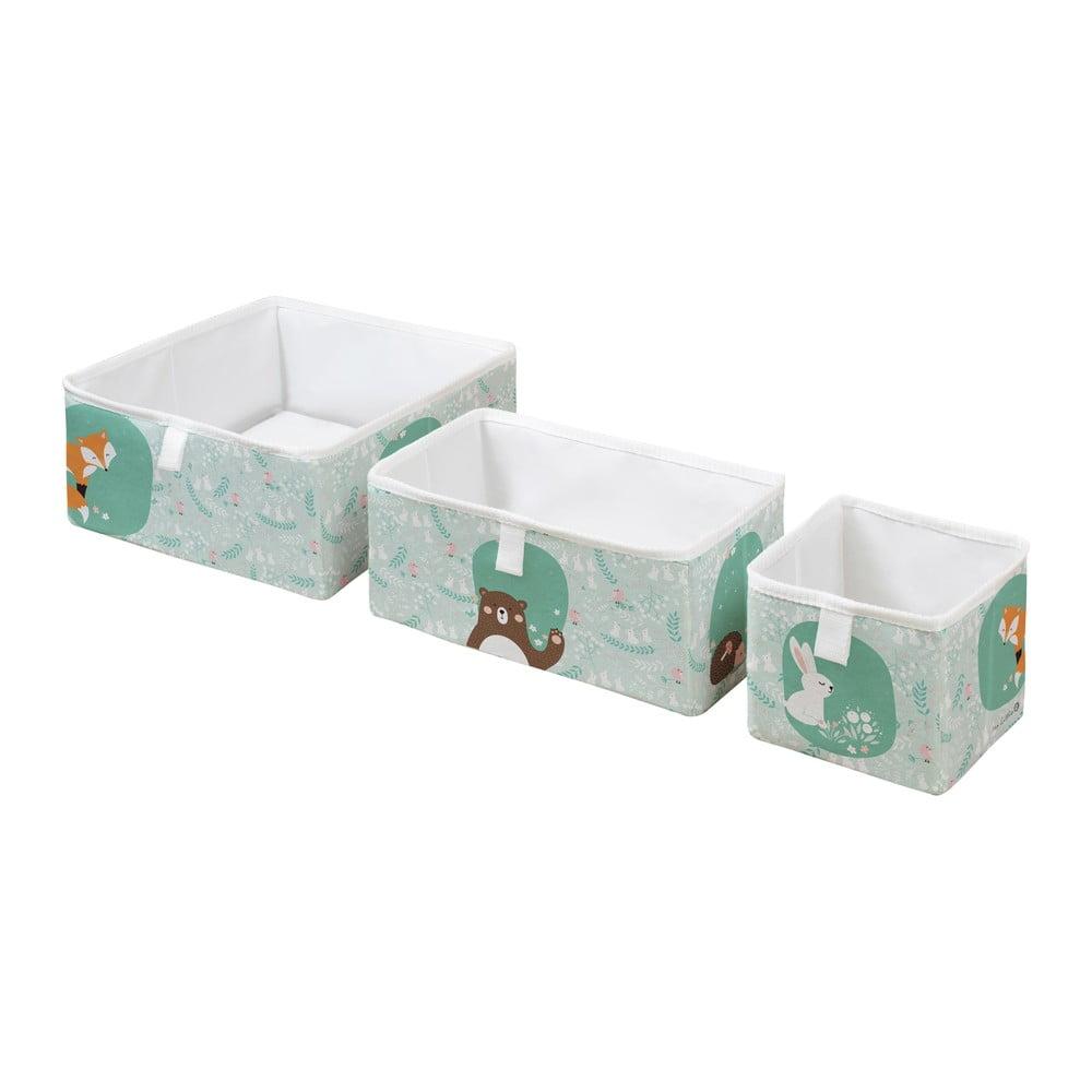 Sada 3 dětských úložných boxů Mr. Little Fox Close Friends