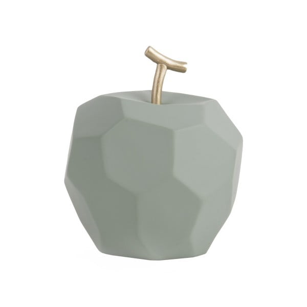 Matowa miętowa betonowa figurka PT LIVING Origami Apple