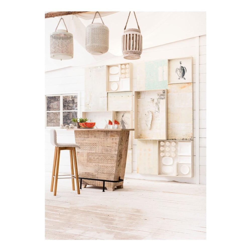 scaun de bar kare design lara alb bonami. Black Bedroom Furniture Sets. Home Design Ideas