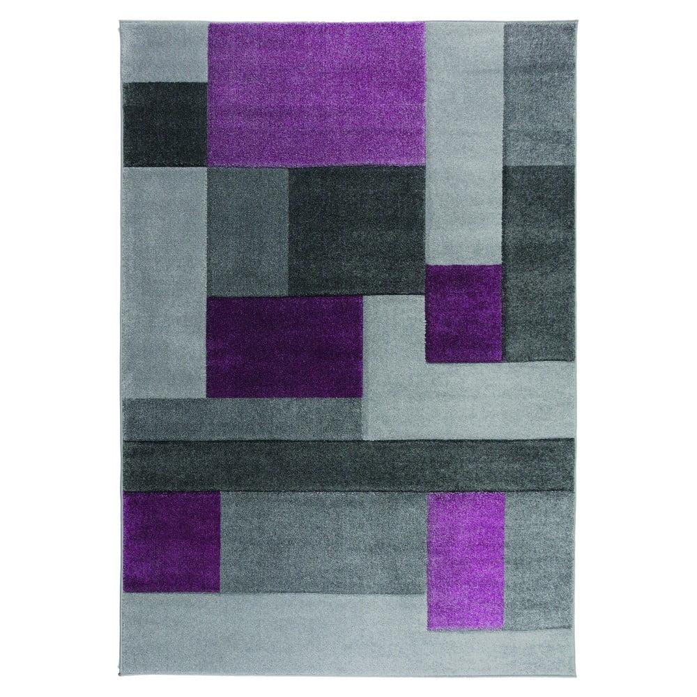 Šedo-fialový koberec Flair Rugs Cosmos, 80 x 150 cm