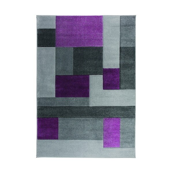 Covor Flair Rugs Cosmos Purple, 120 x 170 cm, gri-mov