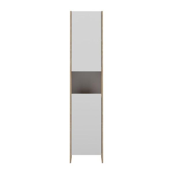 Bílá koupelnová skříňka s hnědým korpusem TemaHome Biarritz,šířka38,2cm