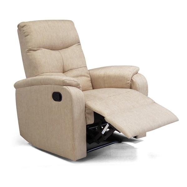 Relaxační křeslo Etos, béžová textilie