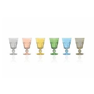 Sada 6 barevných sklenic Villa d'Este Calici Floyd