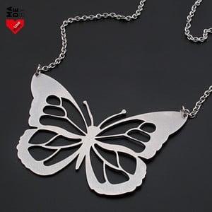 Ocelový náhrdelník Motýl