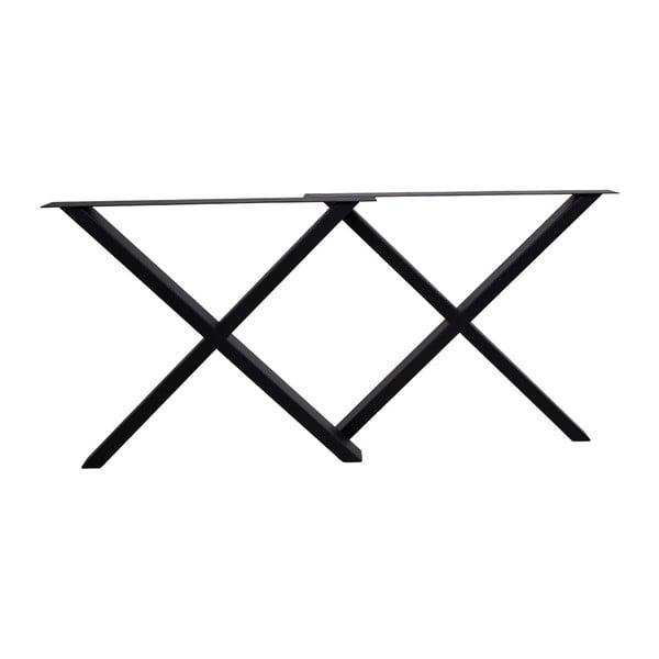 Picioare din oțel pentru masă House Nordic Nimes, lungime 86 cm, negru