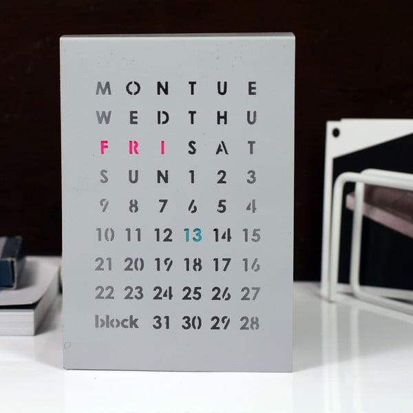 Magnetický kalendář na stůl Perpetual Calendar, šedý