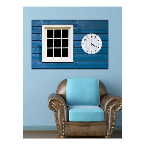 Obraz s hodinami Okno, 60x40 cm