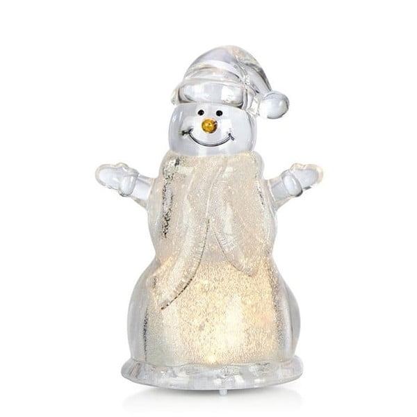 Decorațiune luminoasă cu LED în formă de om de zăpadă Markslöjd Robban Small, înălțime 10 cm