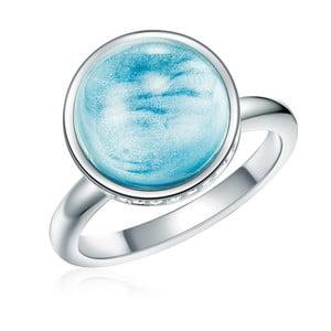Prsten ve stříbrné a tyrkysové barvě s krystaly Swarovski Lilly & Chloe Sea, vel. 52