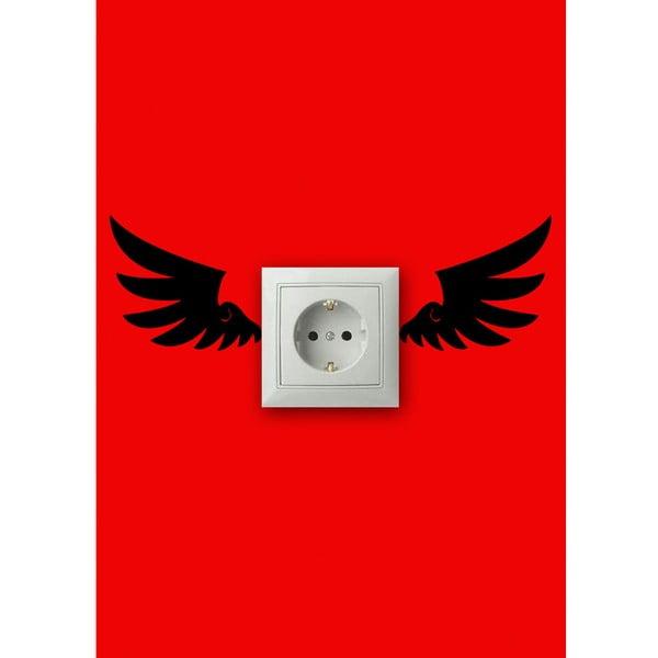 Vinylová samolepka kolem zásuvky Křídla
