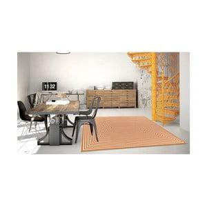 Oranžový vysoce odolný koberec vhodný do exteriéru Floorita Braid,133x190cm