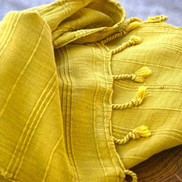 Hamam osuška Peshtemal Mustard, 90x165 cm