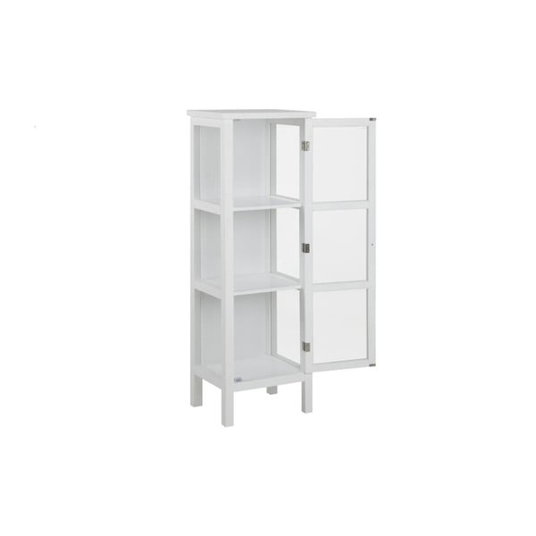 Bílá vitrína Actona Eton, výška 136,5 cm
