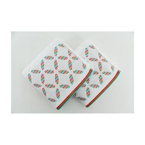 Sada 2 ručníků Rainbow White, 50x90 cm