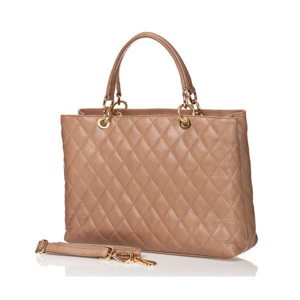 Kožená kabelka Ema, béžová