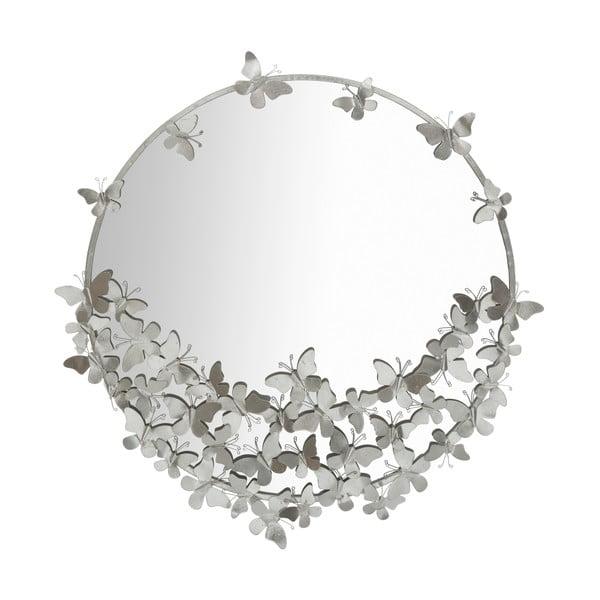 Round Silver ezüstszínű falitükör, ø 91 cm - Mauro Ferretti