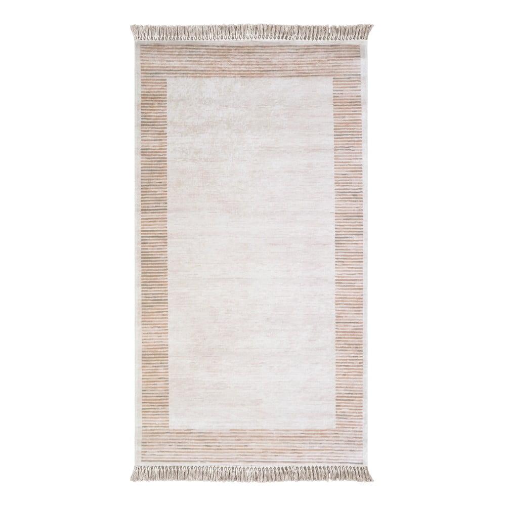 Hnědobéžový koberec Vitaus Hali Ruto, 80 x 150 cm