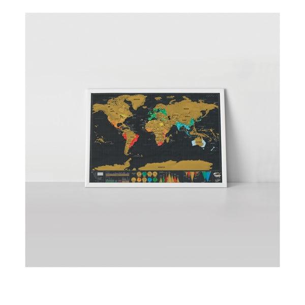 Hartă de răzuit Travel Deluxe
