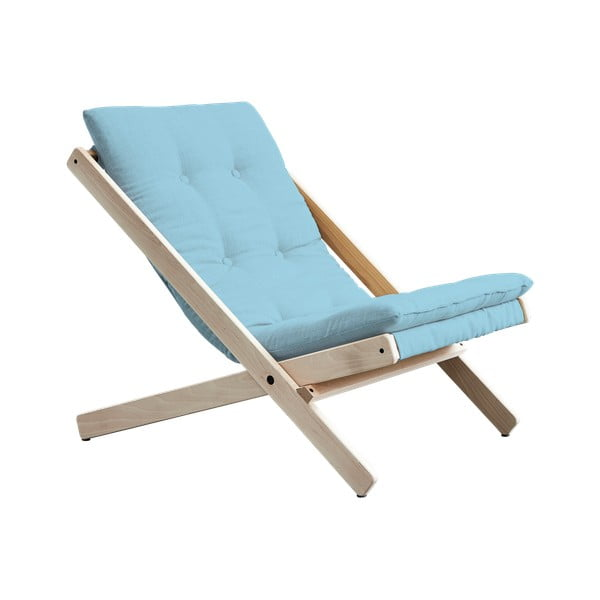 Scaun pliabil Karup Design Boogie Raw/Light Blue