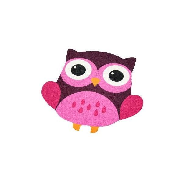 Dětský růžovo-hnědý koberec Zala Living Owl, 66x66cm