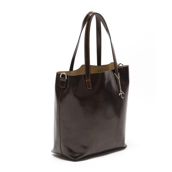 Kožená kabelka Renata Corsi 3001, tmavě hnědá