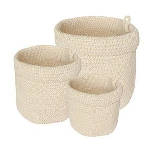 Sada 3 koupelnových košíků White Baskets