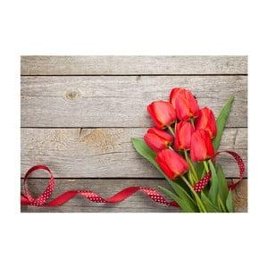 Vinylový koberec Tulips, 52x75 cm
