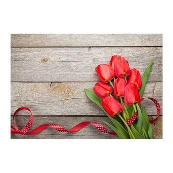 Covoraș din vinilin Tulips,52x75cm imagine