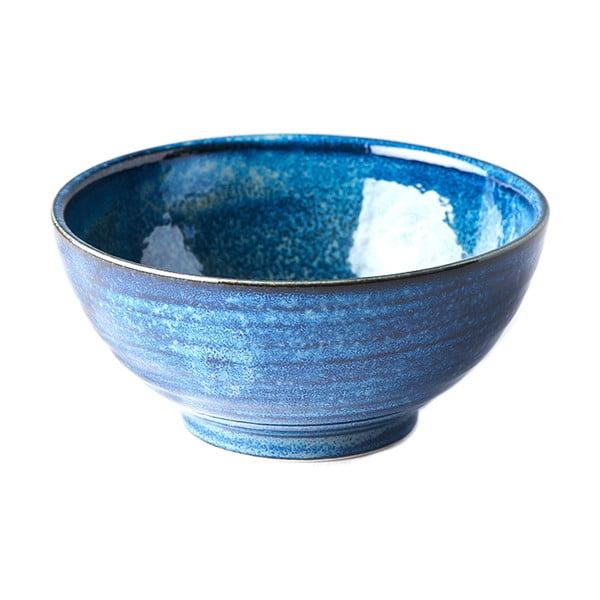 Modrá keramická miska MIJ Indigo, ø18cm
