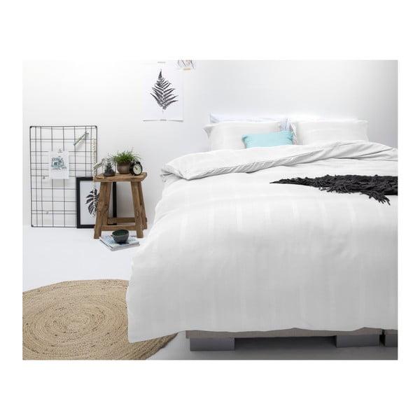 Bílé povlečení z mikroperkálu na dvoulůžko Sleeptime Montreal,240x220cm