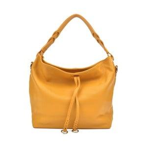 Žlutá kožená kabelka Carla Ferreri Camila Lento