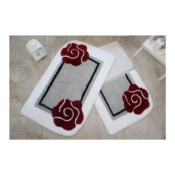 Komplet 3 dywaników łazienkowych Knit Knot Lussado