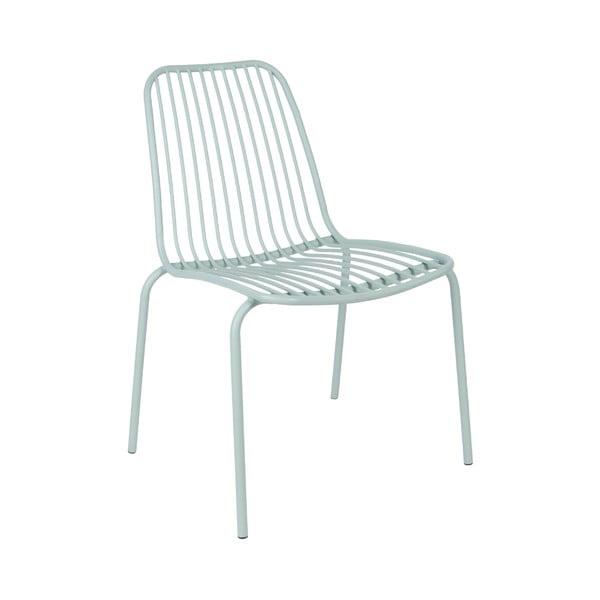 Miętowe krzesło odpowiednie na zewnątrz Leitmotiv Lineate