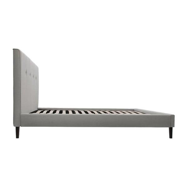 Světle šedá postel s černými nohami Vivonita Kent,180x200cm