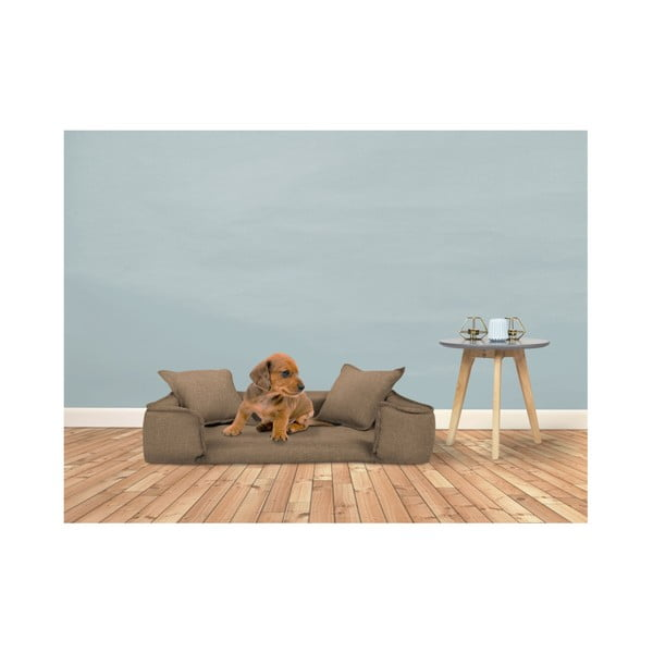 Červený pelíšek pro psy se 2 dekorativními polštářky Marendog Zen