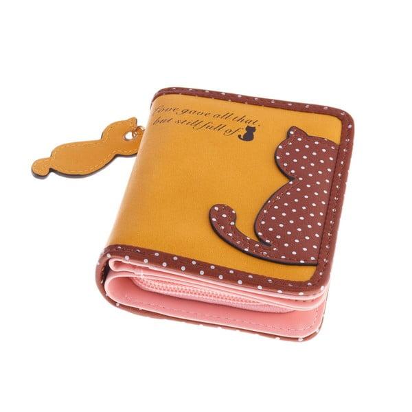 Malá peněženka Cat, žlutá