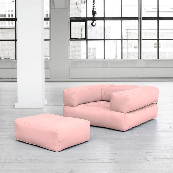 Variabilní křeslo Karup Cube Pink Peonie